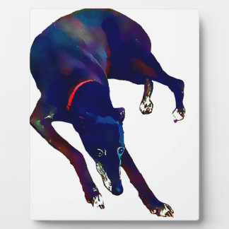Greyhound Art Plaque