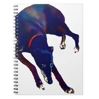 Greyhound Art Spiral Notebook