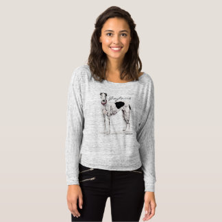 Greyhound Black and White Dog Art Shirt