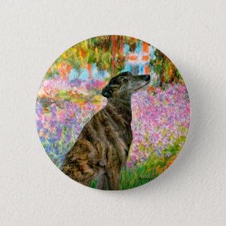 Greyhound (br2) - Garden 2 Inch Round Button
