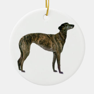 Greyhound - Brindle (standing) Ceramic Ornament