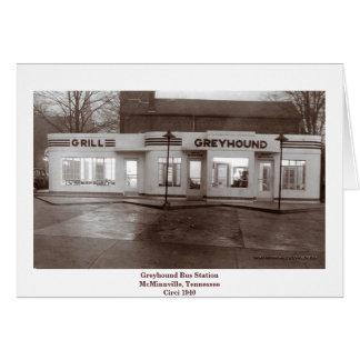 Greyhound Bus Station Card