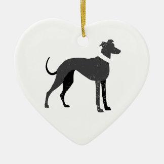 Greyhound Ceramic Ornament