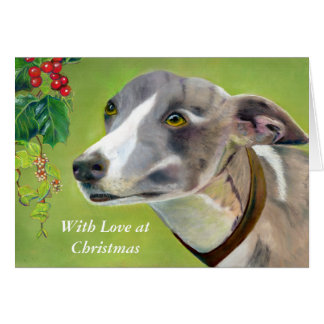 Greyhound Christmas card (a403)
