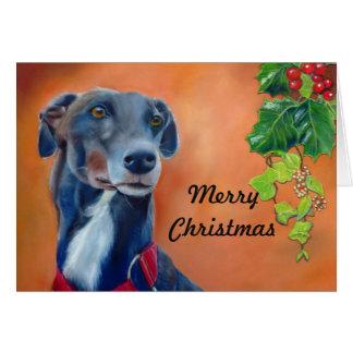 Greyhound Christmas card (p335)