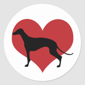 Greyhound Classic Round Sticker