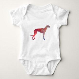 Greyhound cosmos silhouette baby bodysuit