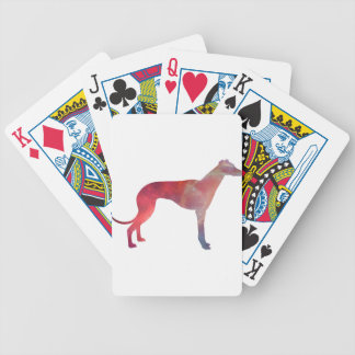 Greyhound cosmos silhouette bicycle playing cards