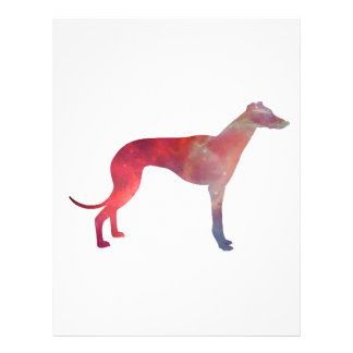 Greyhound cosmos silhouette letterhead