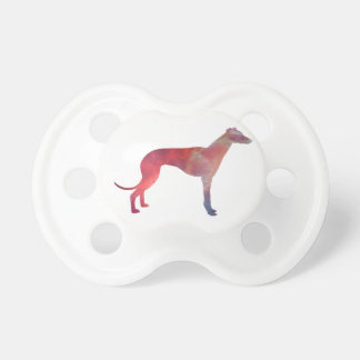 Greyhound cosmos silhouette pacifier