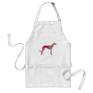 Greyhound cosmos silhouette standard apron