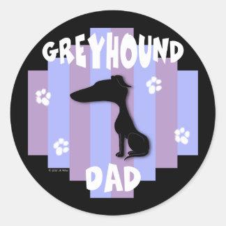 Greyhound Dad Stickers