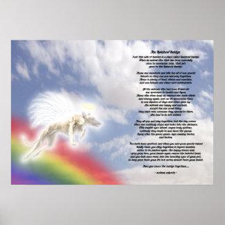 Greyhound Dog Angel At Rainbow Bridge Poster