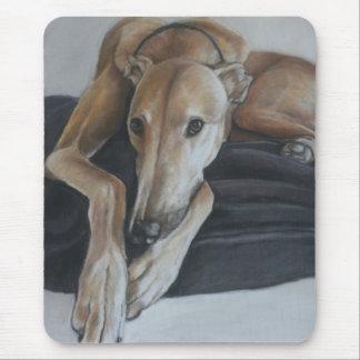 Greyhound Dog Art Mousepad