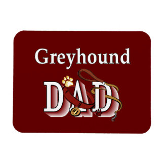 Greyhound Dog Dad Rectangular Photo Magnet