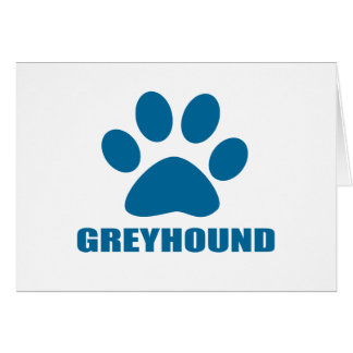 GREYHOUND DOG DESIGNS CARD