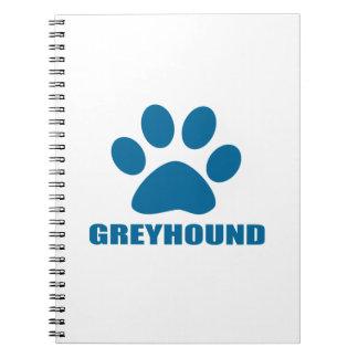 GREYHOUND DOG DESIGNS NOTEBOOK