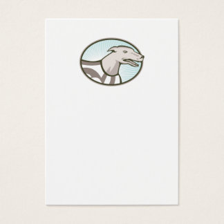 Greyhound Dog Head Retro Business Card