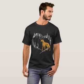 Greyhound Dog Love Rhythm Heartbeats Tshirt