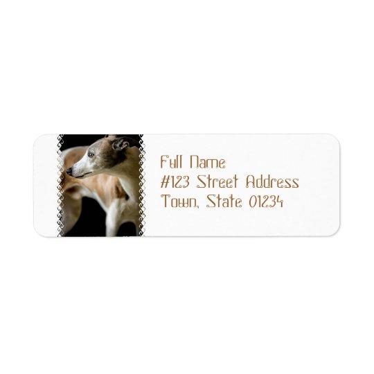 Greyhound Dog  Mailing Labels