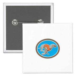 Greyhound Dog Racing Circle Retro Pinback Buttons