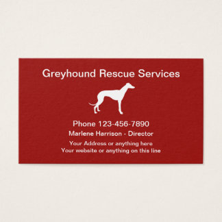 Greyhound Dog Rescue Business Card