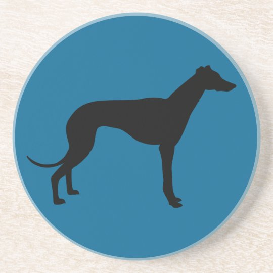 greyhound dog sandstone coaster