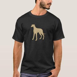 Greyhound Dog Standing Mono Line T-Shirt