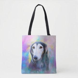 Greyhound Dog Watercolour Art Painting Tote Bag