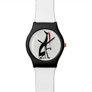 Greyhound Elegant Dog Christmas Black Simple Chic Watch