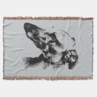 Greyhound Eyes Pet Portrait Throw Blanket