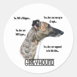 Greyhound FAQ Sicker Classic Round Sticker