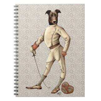 Greyhound Fencer in Cream Full 2 Notebooks