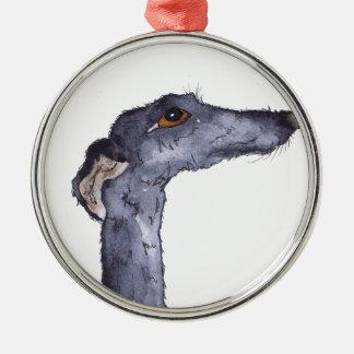 GREYHOUND g293 Metal Ornament