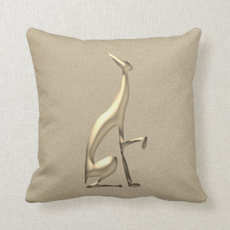 Greyhound Golden Italian Elegant Dog Classy Fancy Throw Pillow