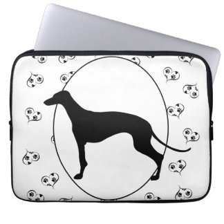 Greyhound Hearts and Paw Prints Laptop Sleeve