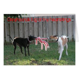 Greyhound heartstrings card