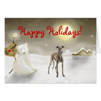 Greyhound Holiday Card