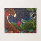 GREYHOUND, HUMMINGBIRD & RACCOON PUZZLE
