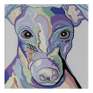 Greyhound in Denim Colors Acrylic Print
