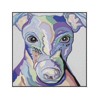 Greyhound in Denim Colors Canvas Print