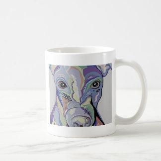 Greyhound in Denim Colors Coffee Mug