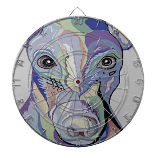 Greyhound in Denim Colors Dartboard