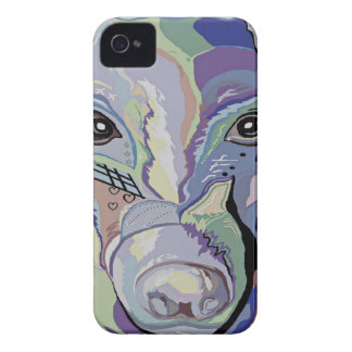 Greyhound in Denim Colors iPhone 4 Case-Mate Cases