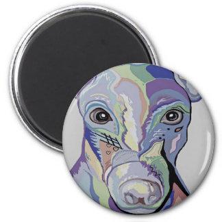 Greyhound in Denim Colors Magnet