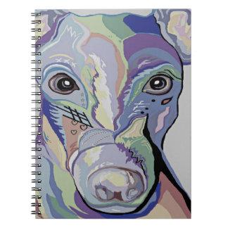 Greyhound in Denim Colors Notebook