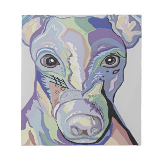 Greyhound in Denim Colors Notepad