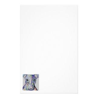 Greyhound in Denim Colors Stationery