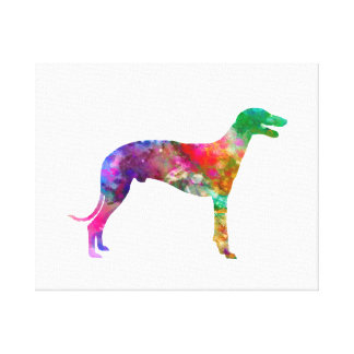 Greyhound in watercolor canvas print