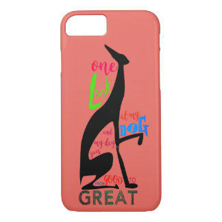Greyhound Italian My Dog Love Elegant Silhouette iPhone 8/7 Case